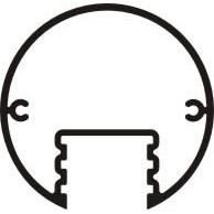 "Signcomp 1237 Series 3 3.25"" Round Post"