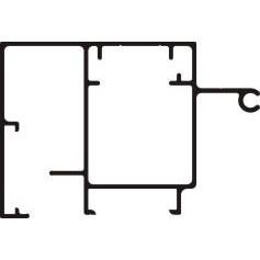 "Signcomp 2045 2-1/4"" Retainer"