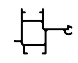 "Signcomp 2063 1-1/1"" Frame"