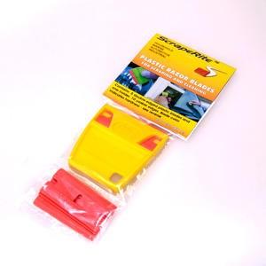 ScrapeRite Plastic Razor Handle & 5-pack Blades