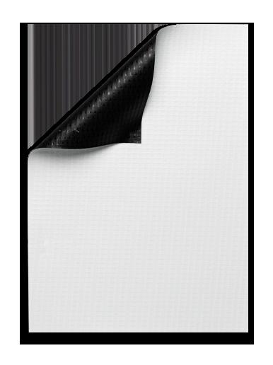 Duratex 8.8oz Black Back Banner