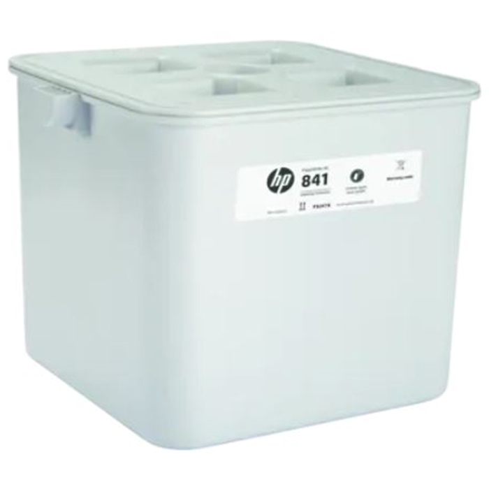 white hp cleaning container