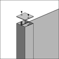 "Signcomp Series-1 3 1/4"" Square Post"