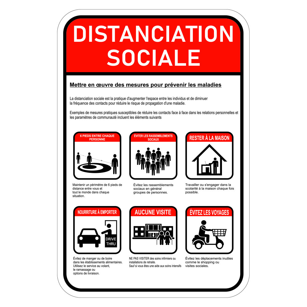 Social Distancing Sign - French